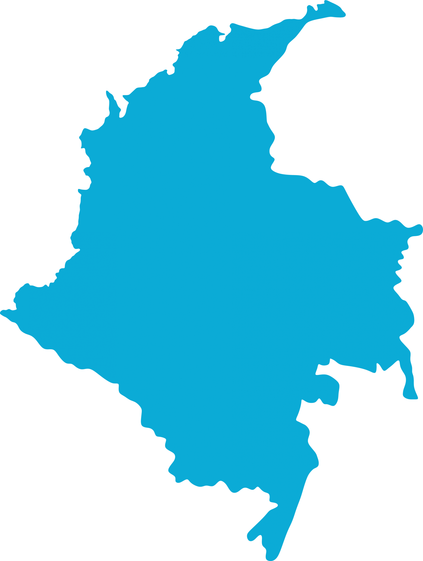 map outline of Colombia