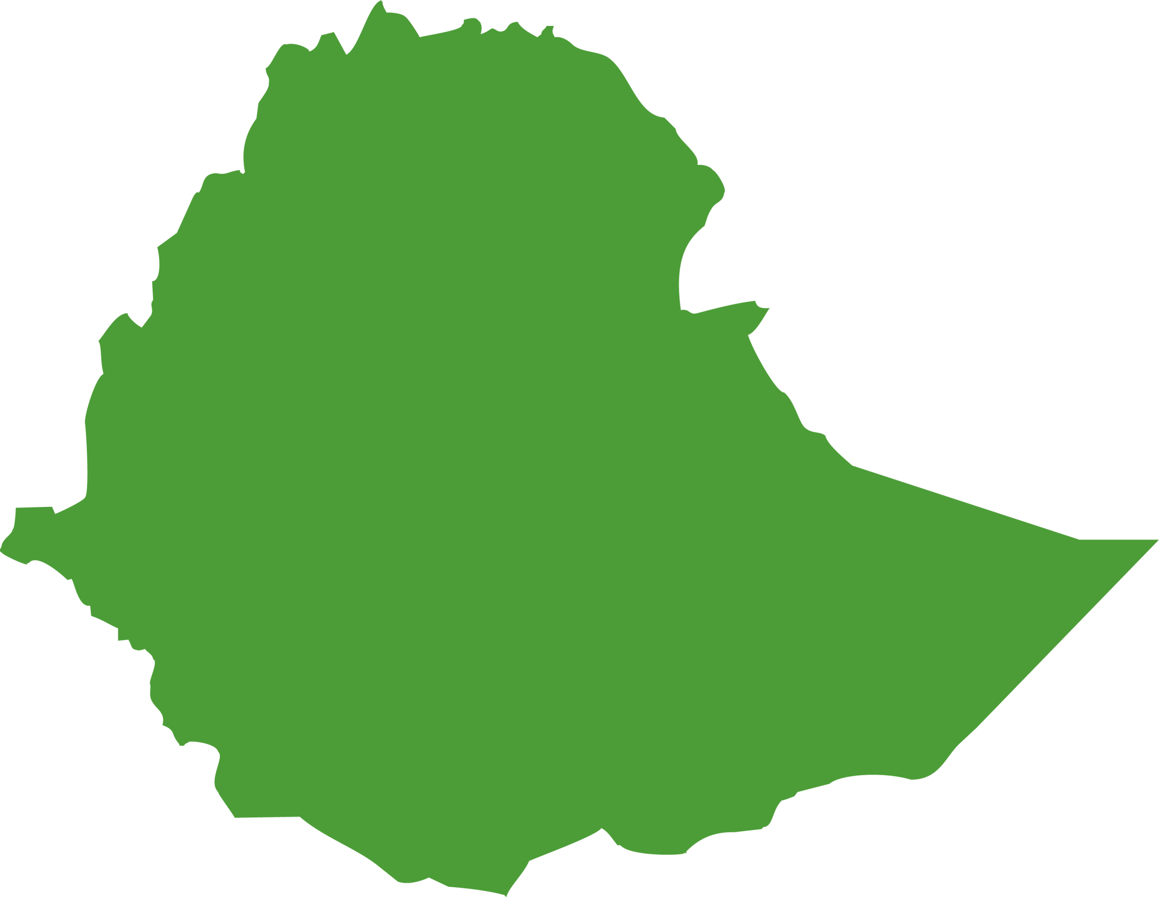 map outline of Ethiopia