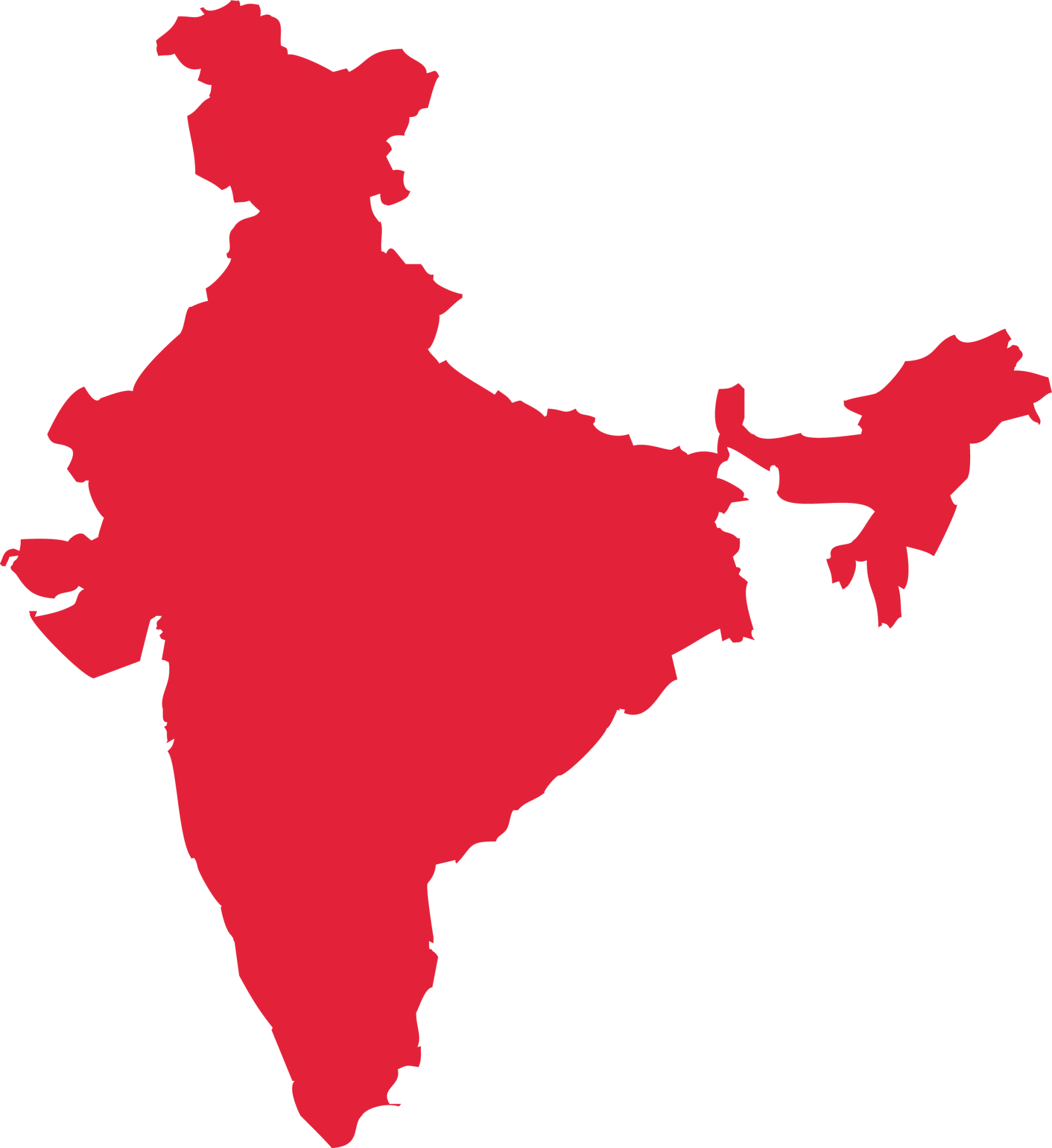 map outline of India