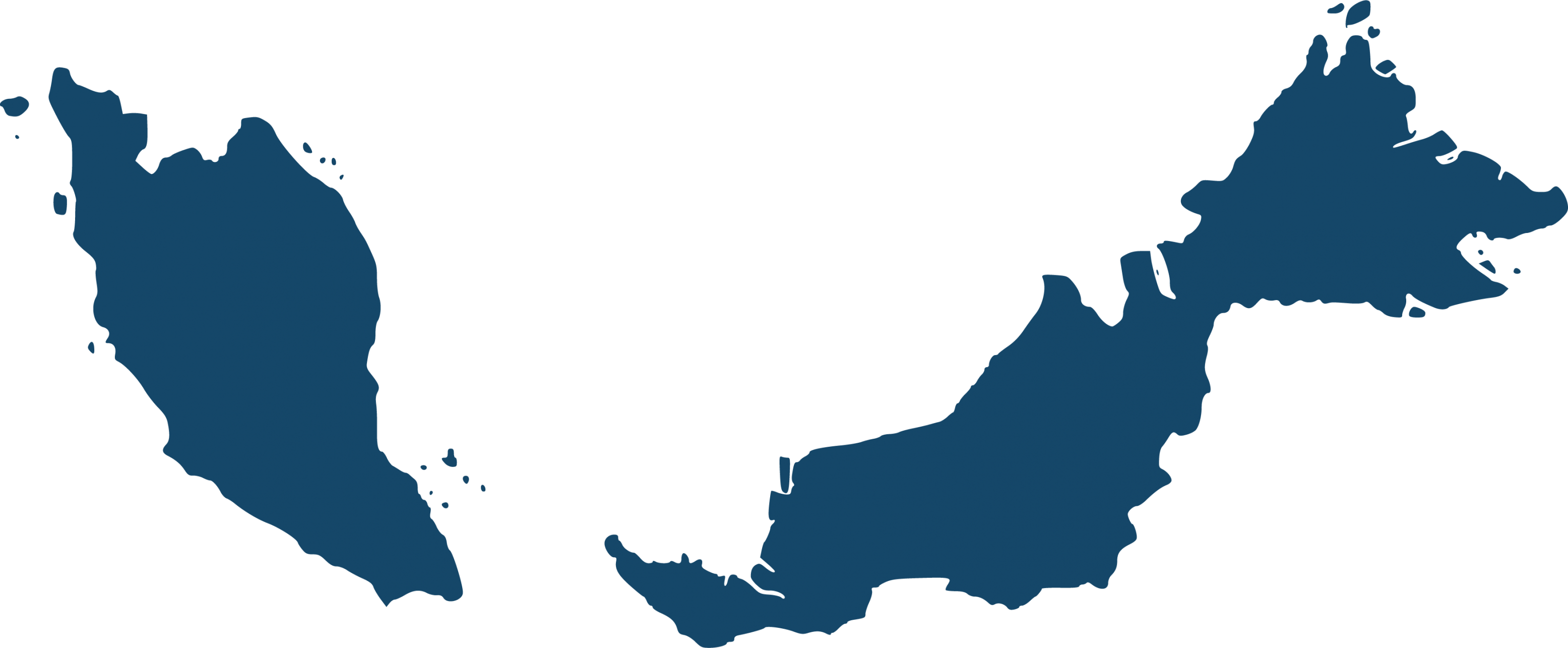 map outline of Malaysia